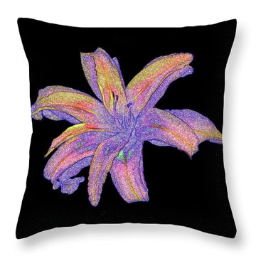 Throw Pillow featuring the photograph Day Lily #3 by Jim Whalen