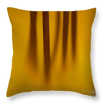 Day Lily Distilled Throw Pillow