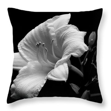 Throw Pillow featuring the photograph One Day Lily  by James C Thomas