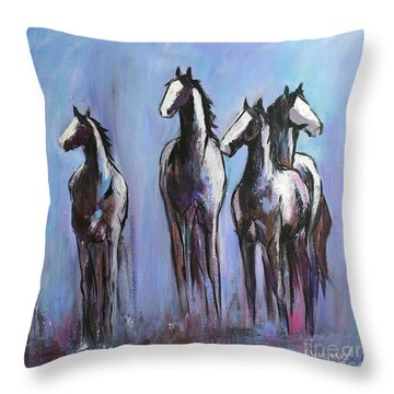 Day Of Blue Throw Pillow