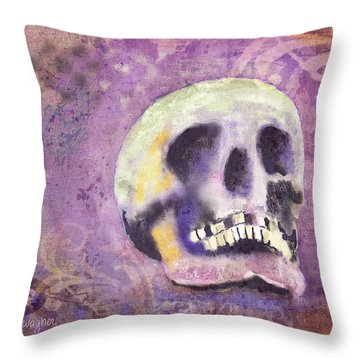 Throw Pillow featuring the digital art Day Of The Dead by Arline Wagner