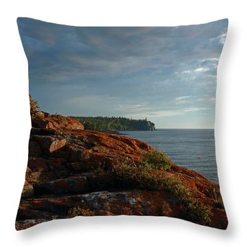 Daybreak At Campsite 19 Throw Pillow by James Peterson