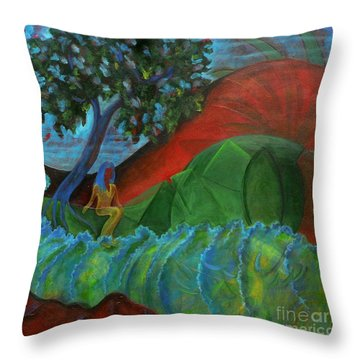 Uncertain Journey Throw Pillow by Elizabeth Fontaine-Barr