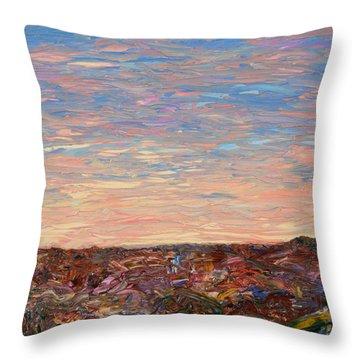 Daybreak Throw Pillow by James W Johnson