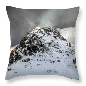 Throw Pillow featuring the photograph Daybreak On The Mountain by Jim Hill