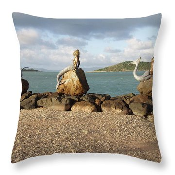 Throw Pillow featuring the photograph Daydream Mermaids by Absinthe Art By Michelle LeAnn Scott