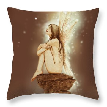 Daydreaming Faerie Throw Pillow