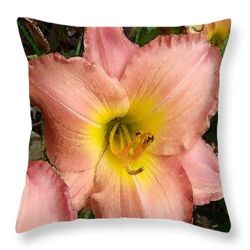 Throw Pillow featuring the photograph Daylilies by Jayne Wilson