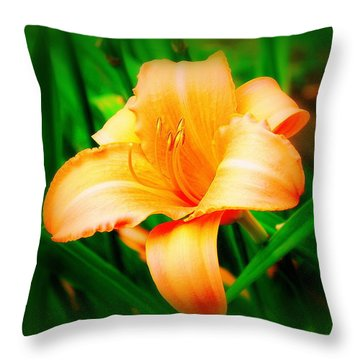 Daylilly Throw Pillow