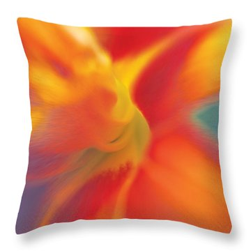 Daylily Throw Pillow by David Davies
