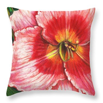 Daylily Delight Throw Pillow by Shana Rowe Jackson