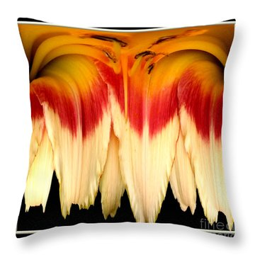 Daylily Flower Abstract 2 Throw Pillow by Rose Santuci-Sofranko