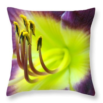 Daylily Macro 2 Throw Pillow