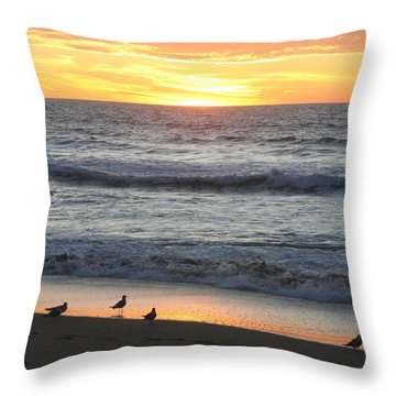 Days End Throw Pillow by Art Block Collections