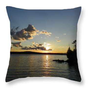 Day's End At Schoodic Lake Throw Pillow