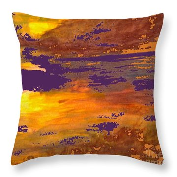Days End Throw Pillow by Cindy McClung