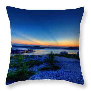 Throw Pillow featuring the photograph Days End by Dave Files