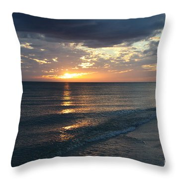 Days End Over Sanibel Island Throw Pillow