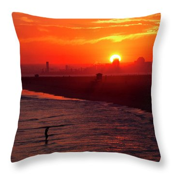 Throw Pillow featuring the photograph Days End by Tom Kelly