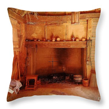Throw Pillow featuring the photograph Days Gone By - Charles Town Landing by Kathy Baccari