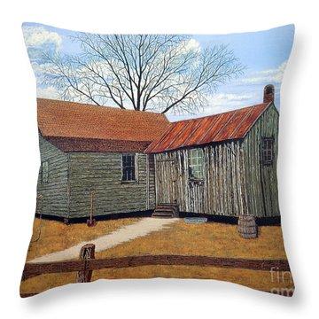 Days Gone By Throw Pillow by Jeff McJunkin