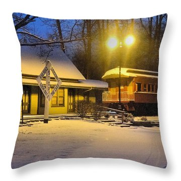 Days Gone By Throw Pillow by Mikki Cucuzzo