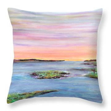 Day's Last Look Throw Pillow