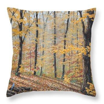 Days Of Autumn Throw Pillow