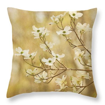 Days Of Dogwoods Throw Pillow