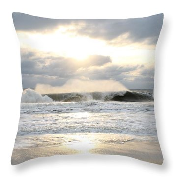 Day's Rolling Waves Throw Pillow by Robert Banach