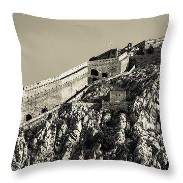 Daytime Palamidi Fortress  Throw Pillow