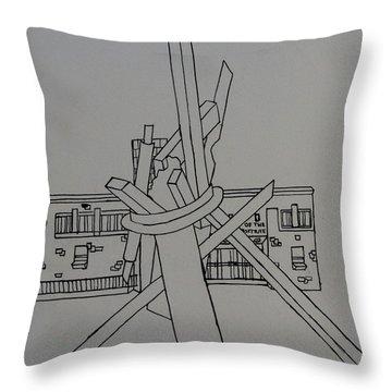 Dayton Art Institute Throw Pillow by Erika Chamberlin