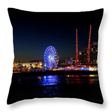 Throw Pillow featuring the photograph Daytona At Night by Laurie Perry