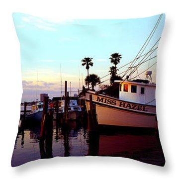 Daytona Beach Fl Last Chance Miss Hazel And Sonny Boy Throw Pillow
