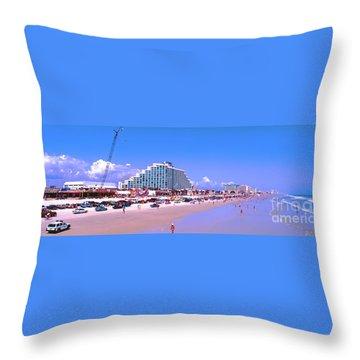 Daytona Main Street Pier And Beach  Throw Pillow