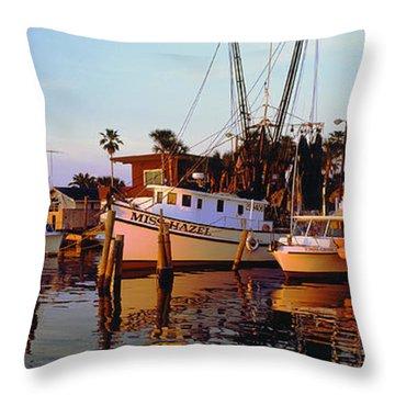 Throw Pillow featuring the photograph Daytona Sonny Boy And Miss Hazel by Tom Jelen