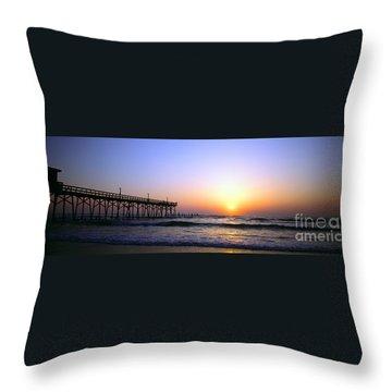 Daytona Sun Glow Pier  Throw Pillow
