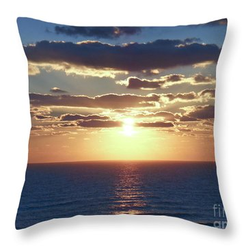 Daytona Sunrise 2 Throw Pillow