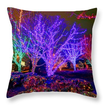 Dazzling Christmas Lights Throw Pillow by Martin Konopacki