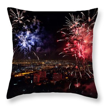 Dazzling Fireworks II Throw Pillow by Ray Warren