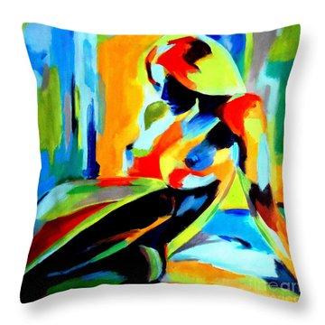 Dazzling Light Throw Pillow by Helena Wierzbicki