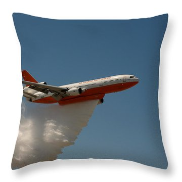 Dc 10 Air Tanker Throw Pillow