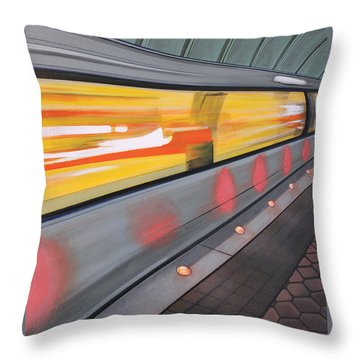 Throw Pillow featuring the painting Dc Light Rail by Jude Labuszewski