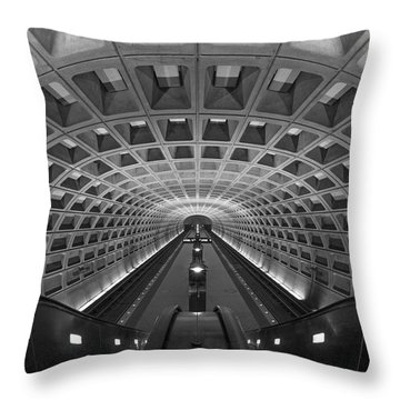 Throw Pillow featuring the photograph D.c. Subway by Dustin  LeFevre