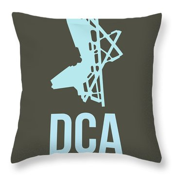 Dca Washington Airport Poster 1 Throw Pillow by Naxart Studio
