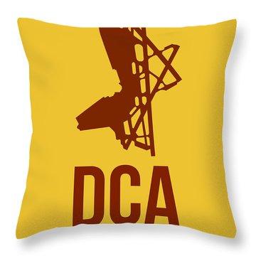 Dca Washington Airport Poster 3 Throw Pillow by Naxart Studio