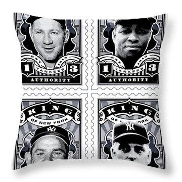Dcla Kings Of New York Combo Stamp Artwork 2 Throw Pillow by David Cook Los Angeles