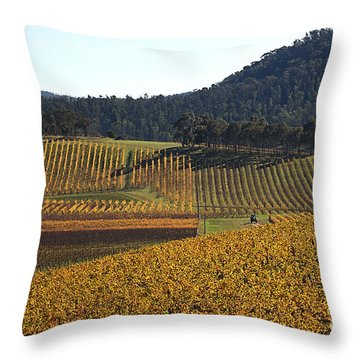 golden vines-Victoria-Australia Throw Pillow