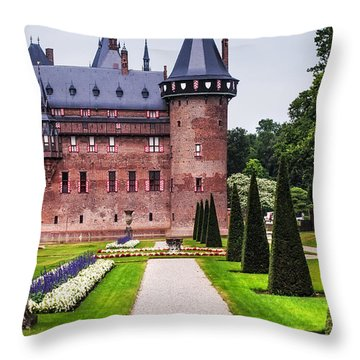 De Haar Castle 2. Utrecht. Netherlands Throw Pillow by Jenny Rainbow