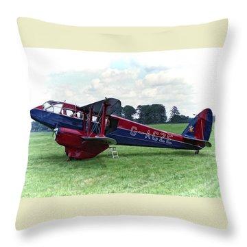 De Havilland Dragon Rapide Throw Pillow